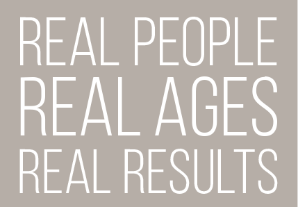 real people, real ages, real results